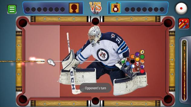 Billiards Winnipeg Jets Theme poster