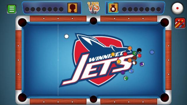 Billiards Winnipeg Jets Theme screenshot 1
