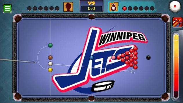 Billiards Winnipeg Jets Theme screenshot 2