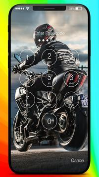 Moto Racing Rider Traffic Road  PIN Lock Screen screenshot 1