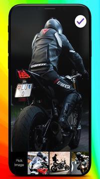 Moto Racing Rider Traffic Road  PIN Lock Screen screenshot 2