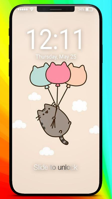 Pusheen Kawai Cat Wallpaper Home Lock Screen For Android Apk Download