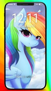 Rainbow Dash Little Princess Art Coloring Pin Lock poster