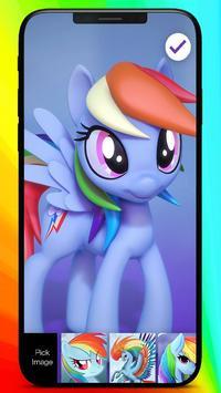 Rainbow Dash Little Princess Art Coloring Pin Lock screenshot 2