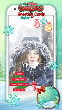 Winter Greeting Cards Maker poster