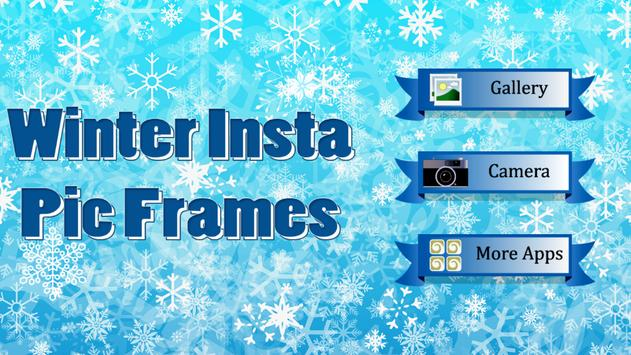 Winter Insta Pic Frames poster