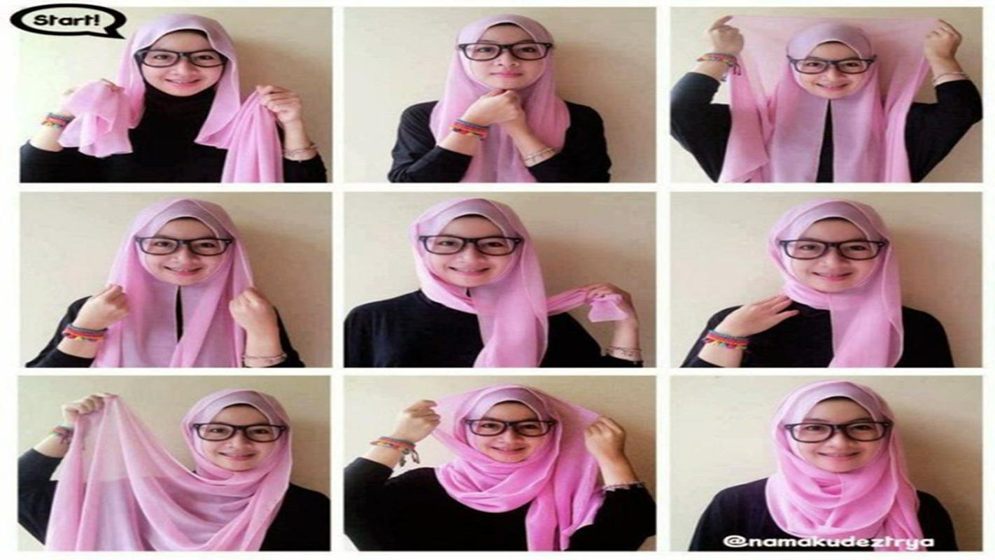 tutorial hijab segi empat simple for android - apk download