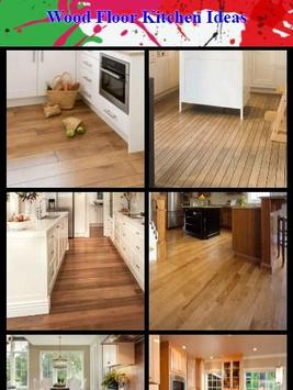 Wood Floor Kitchen Ideas poster