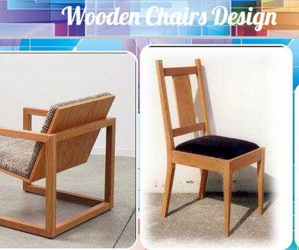 Wooden Chairs Design poster