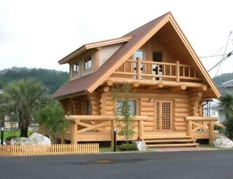 Wooden House Design apk screenshot