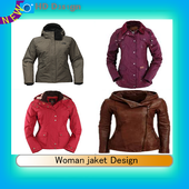 Woman jaket Design icon