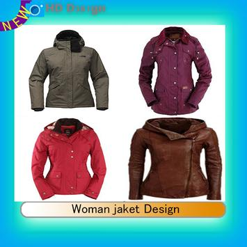 Woman jaket Design poster