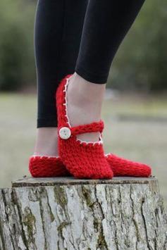 Women Crochet Slippers poster