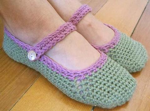 Women Crochet Slippers screenshot 1