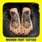 Women Foot Tattoo icon