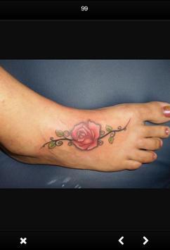 Women Foot Tattoo screenshot 3