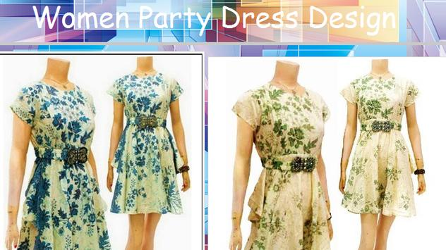 Women's Party Dress Design poster