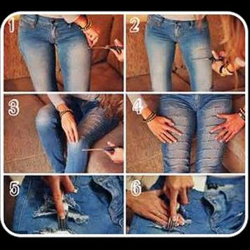 Women Ripped Jeans Tutorial poster