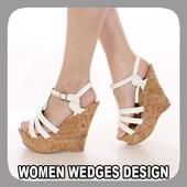 Women Wedges Design icon