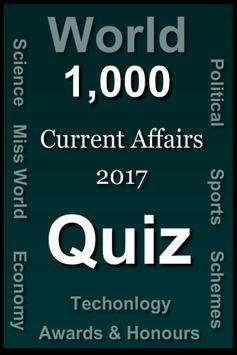 World Current Affairs 2017 Quiz poster