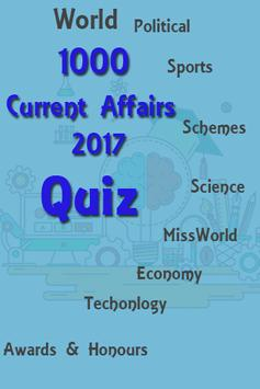 World Current Affairs 2017 Quiz poster