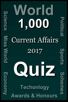 World Current Affairs 2017 Quiz screenshot 10