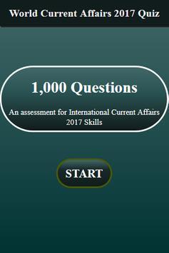 World Current Affairs 2017 Quiz screenshot 1