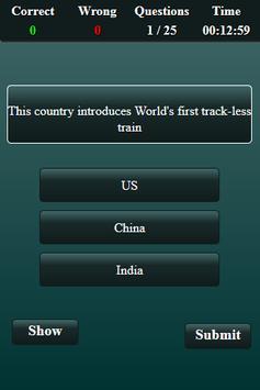 World Current Affairs 2017 Quiz screenshot 2