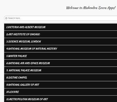 World Best Museums apk screenshot