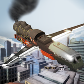Flying Train In Sky icon