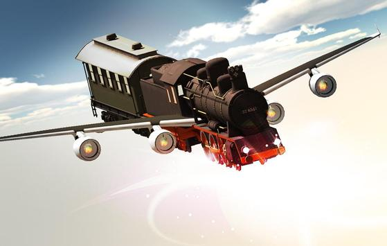 Flying Train In Sky poster