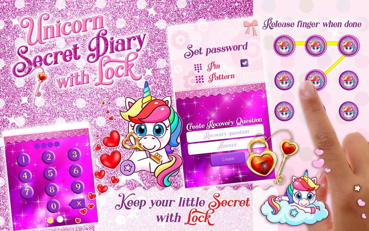 Tagebuch Einhorn Tagebücher Für Mädchen Für Android Apk