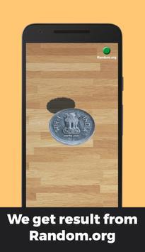Indian Rupee Coin Toss 3D: Flip Free🤘 Free 2019🔥 screenshot 1