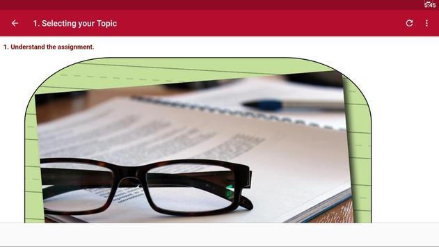 Write a Report screenshot 2