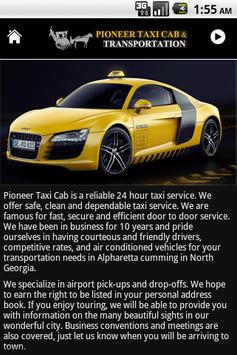 Pioneer Taxi Cab screenshot 2