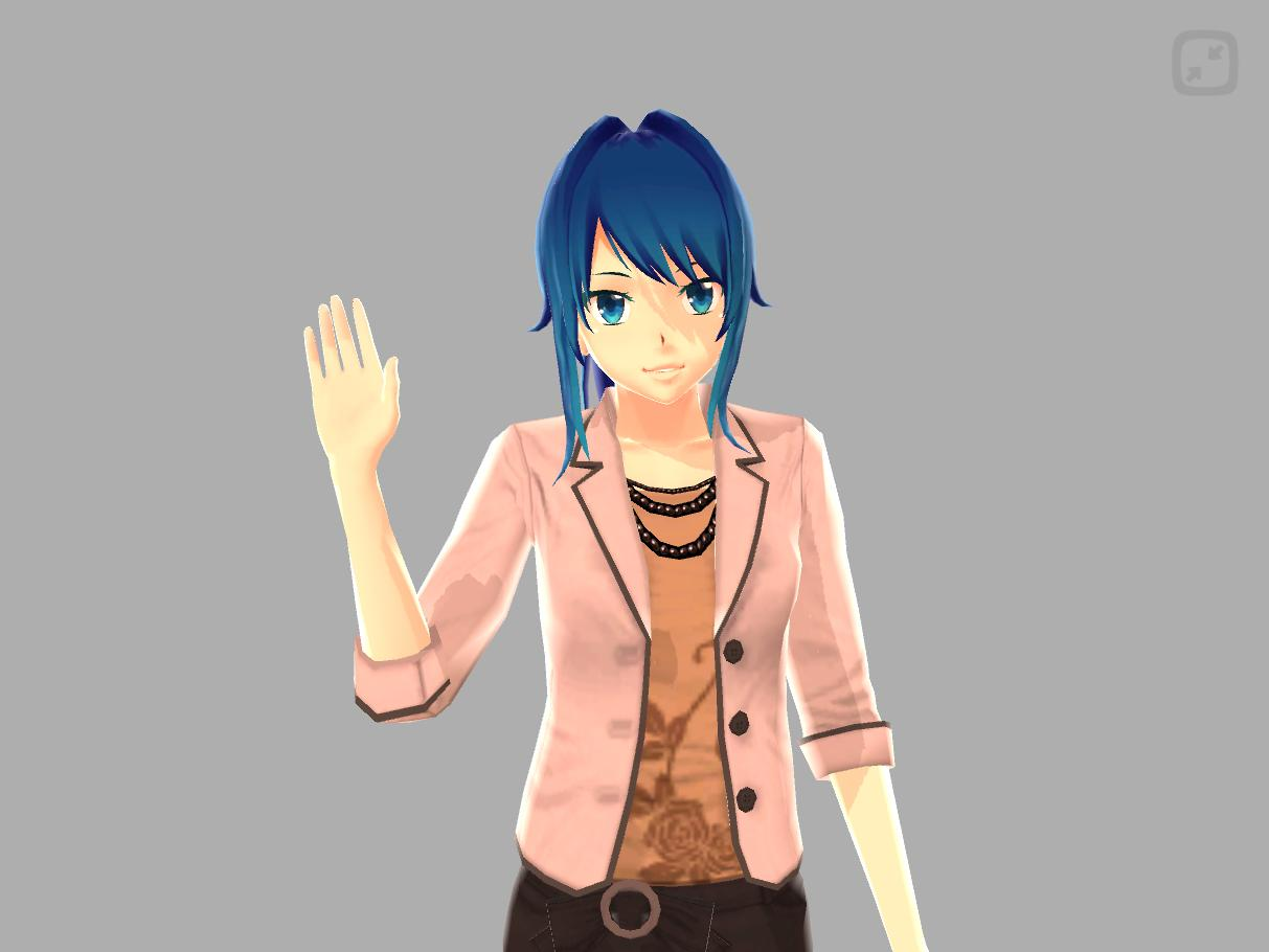 anime girl pose 3d apk download