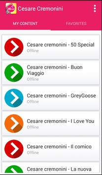 Cesare cremonini - Lost In The Weekend apk screenshot