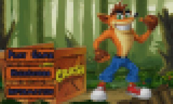 Crash funny run in the jungle poster