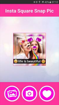 InstaSquare Snap Pic poster