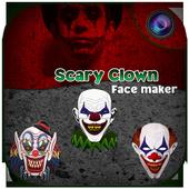 Scary Clown Face Emoji icon