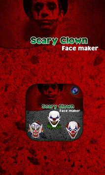 Scary Clown Face Emoji poster