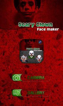 Scary Clown Face Emoji screenshot 1