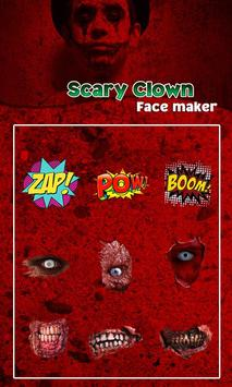 Scary Clown Face Emoji screenshot 4