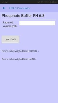 HPLC calculator apk screenshot
