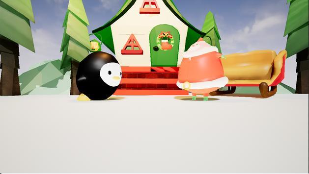 サンタになったモスペンギンVR apk screenshot