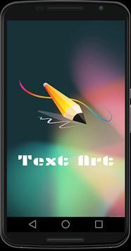 Text Art poster