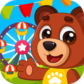 Amusement park: mini games for children icon