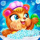 Pets care : pat wash icon