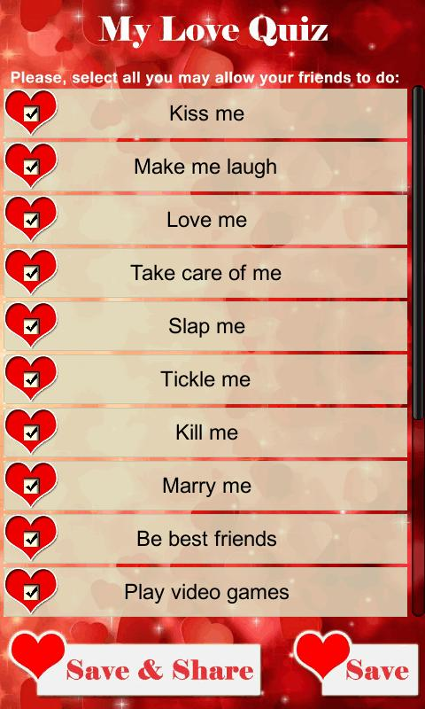 Games love quiz Love Quizzes