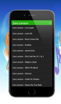 Zara Larsson Songs apk screenshot